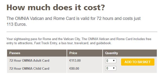 OMNIA Vatican and Roma Card